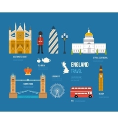 United kingdom flat icons vector