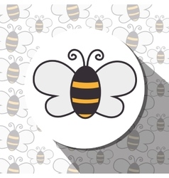 Butterfly cute cartoon design vector