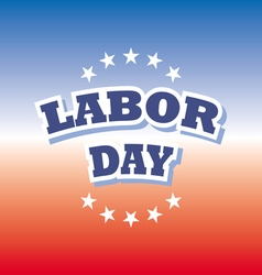 Labor day america banner on red and blue vector
