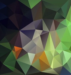Natural green abstract polygon triangular pattern vector