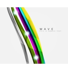 Wavy glossy futuristic swirl vector image