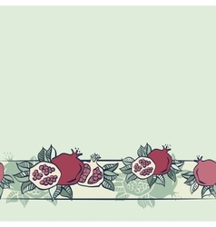 Pomegranate seamless background vector