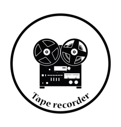 Reel tape recorder icon vector