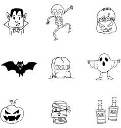 Doodle halloween character flat vector