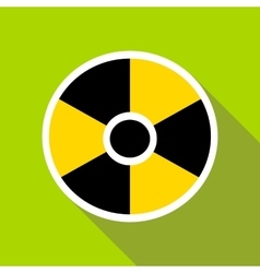 Radioactive sign icon in flat style vector