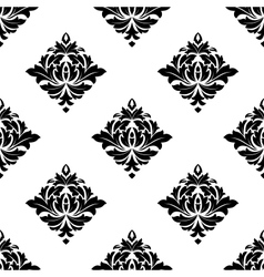 Abstract white and black seamless pattern vector