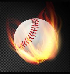 Baseball on fire burning style vector