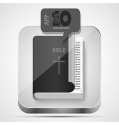 Bible app icon vector image vector image