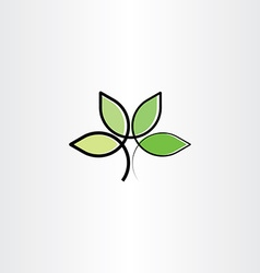 Bio plant herb health eco logo icon vector