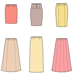Business skirt vector image