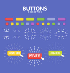 Buttons maker constructor create your banner for vector