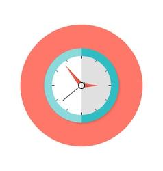 Clock Flat Circle Icon vector image vector image