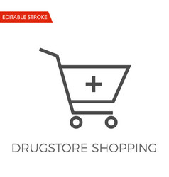 drugstore shopping icon vector image