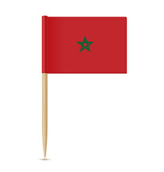 Flag of morocco flag toothpick 10eps vector