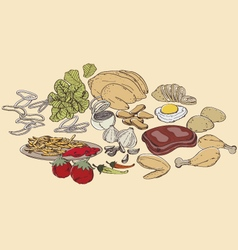 Food ingredients vector