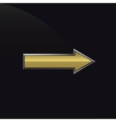 Golden metal arrow vector image vector image