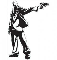gunman vector image