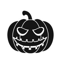 Halloween pumpkin icon simple style vector image