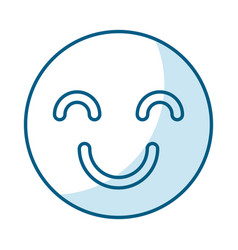 Happy face isolated icon vector