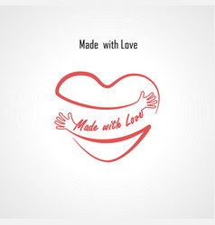 made with love typographical design elements vector image vector image