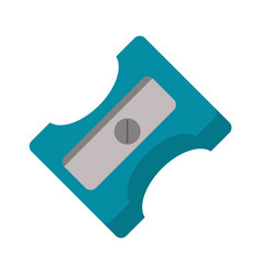 pencil sharpener school icon vector image