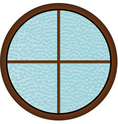 round window vector image