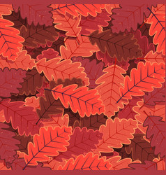 Seamless winter oak tree leaves wallpaper vector