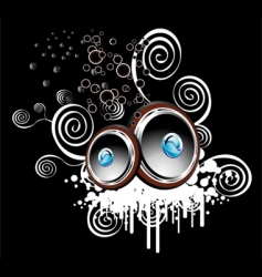 speakers background vector image vector image