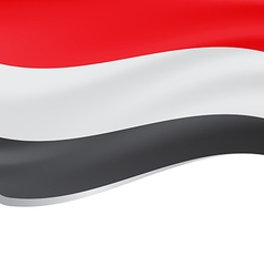 Waving flag of Yemen isolated on white vector image vector image