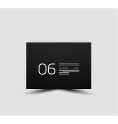 Web box shadow modern design vector image
