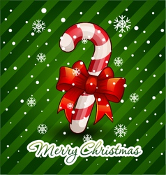 Christmas candy cane decorated vector