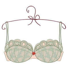 Vintage bra on white background vector