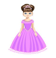 beautiful princess in jewelry vector image