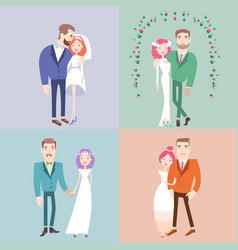 Man and woman getting married vector