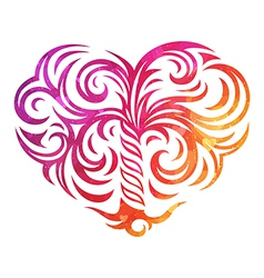 Decorative heart with abstract texture vector