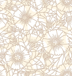 Daisy doodle seamless pattern vector