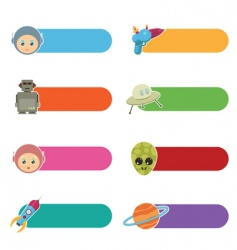 kids sci-fi tabs vector image