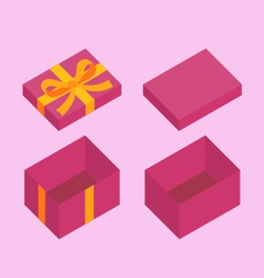 Christmas box vector