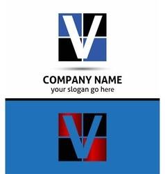 Letter V logo icon vector image