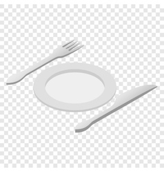 Cutlery isometric 3d icon vector