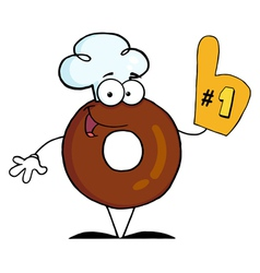 Donut Cartoon Character Number One vector image