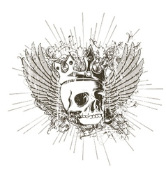 T-shirt design with skull vector