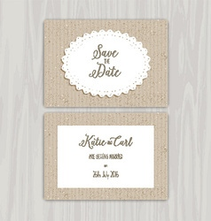Save the date vintage invites 0502 vector