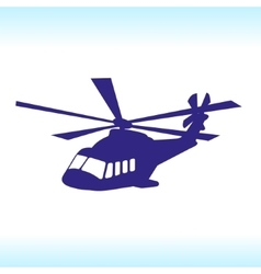 Flying helicopter sky vector