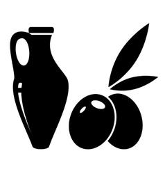 Jar of olive oil vector