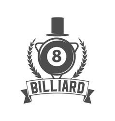 billiards emblem label and designed elements vector image vector image
