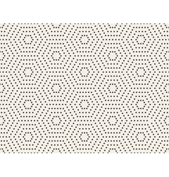 Black and white subtle dotted hexagon vector