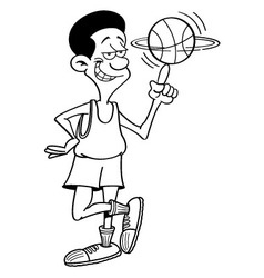 Cartoon basketball player spinning vector image vector image