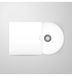 Compact Disc Blank Mockup with Cover vector image