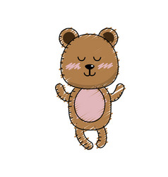 Cute bear boy wild animal character vector